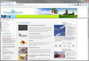 Screenshot www.kleve.de