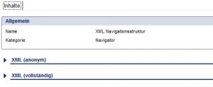 Navigator - XML Navigationsstruktur