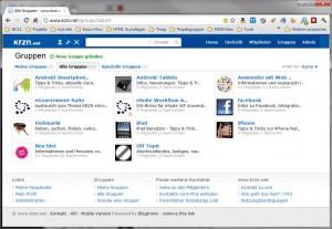Übersicht über Gruppen im krzn.net