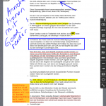 Annotationsfunktion des Goodreaders