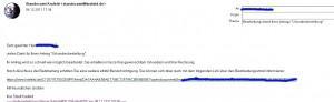 So könnte eine Mail bei Statusänderung der Beurkundung aussehen.