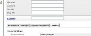 Pflege Kontakte mit Notes: Geburtsdatum wird nicht angezeigt