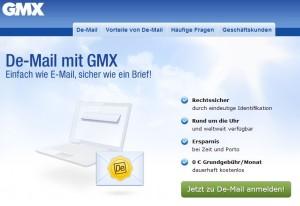 GMX-Versprechen zu De-Mail