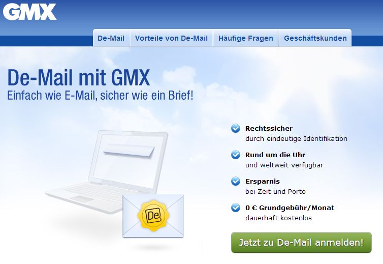 my gmx de login