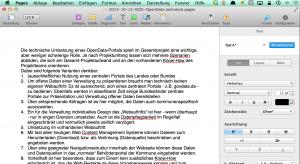 Pages: So würde ein modernes Word aussehen. Schade, dass es so inkompatibel ist.