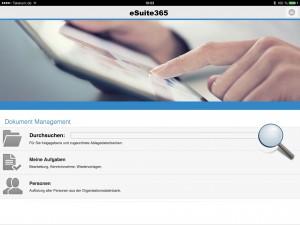 Die neue zentrale Einstiegsseite für  eSuite-Anwender