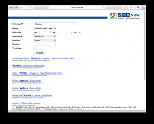 Suchergebnis der VSM aus mehreren OpenData-Portale
