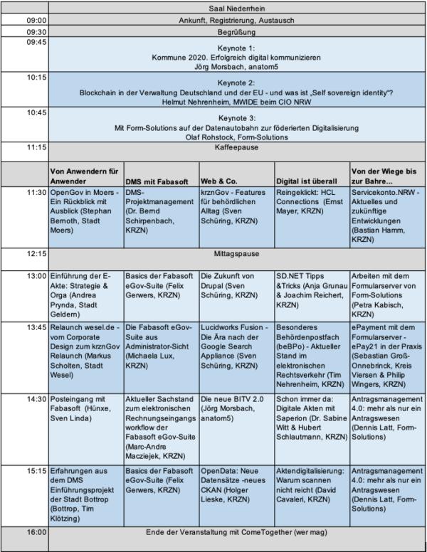 eGovernment Infotag Agenda